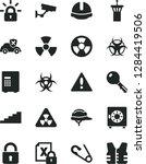 solid black vector icon set  ... | Shutterstock .eps vector #1284419506