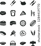 solid black vector icon set   a ... | Shutterstock .eps vector #1284419770