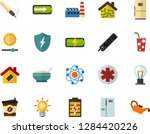 color flat icon set   atom flat ... | Shutterstock .eps vector #1284420226