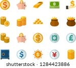 color flat icon set  ... | Shutterstock .eps vector #1284423886