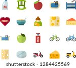 color flat icon set   mothers... | Shutterstock .eps vector #1284425569
