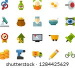 color flat icon set  ... | Shutterstock .eps vector #1284425629