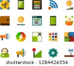 color flat icon set   phone...