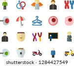 color flat icon set   holy... | Shutterstock .eps vector #1284427549