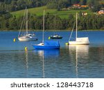 Ships On The Lipno Lake  Czech...
