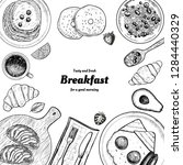 healthy breakfast  frame.... | Shutterstock .eps vector #1284440329