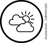 vector sunny icon  | Shutterstock .eps vector #1284442183