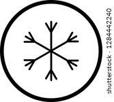 vector snow icon  | Shutterstock .eps vector #1284442240