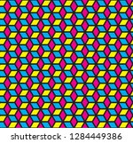 cmyk color cubic seamless... | Shutterstock .eps vector #1284449386
