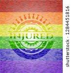 injured on mosaic background... | Shutterstock .eps vector #1284451816