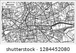 rennes france city map in retro ... | Shutterstock . vector #1284452080