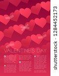 heart paper chain tear repair... | Shutterstock .eps vector #1284452173