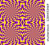 yellow and purple wrapping... | Shutterstock .eps vector #1284453469