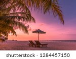 maldives islands with blue sea... | Shutterstock . vector #1284457150