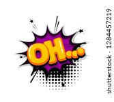 oh comic text sound effects pop ... | Shutterstock .eps vector #1284457219