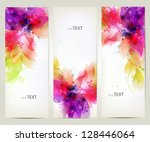 set of floral element and... | Shutterstock .eps vector #128446064