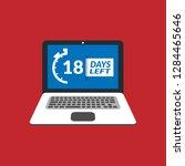 18 days left sign   emblem ... | Shutterstock .eps vector #1284465646