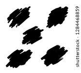 brush stroke vector with black... | Shutterstock .eps vector #1284468859