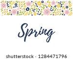 vector illustration of spring... | Shutterstock .eps vector #1284471796