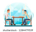 businessmen discussing strategy ...   Shutterstock . vector #1284479539