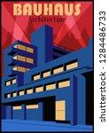 bauhaus architecture style... | Shutterstock .eps vector #1284486733