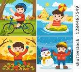 Illustration Of Four Seasons...