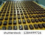 the conveyor for the production ... | Shutterstock . vector #1284499726