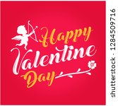 valentine greeting card with...   Shutterstock .eps vector #1284509716