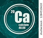 calcium chemical element. sign... | Shutterstock .eps vector #1284510610