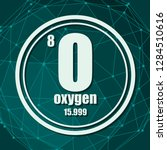 oxygen chemical element. sign... | Shutterstock .eps vector #1284510616