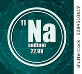 sodium chemical element. sign... | Shutterstock .eps vector #1284510619