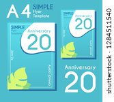 simple flyer design with two...   Shutterstock .eps vector #1284511540