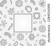 bacteria microbiology outline... | Shutterstock .eps vector #1284514300