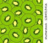 kiwi seamless pattern. endless...   Shutterstock .eps vector #1284515416