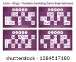 lotto bingo tombala gambling... | Shutterstock .eps vector #1284517180