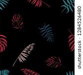 vector beach seamless pattern... | Shutterstock .eps vector #1284526480