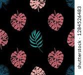 vector beach seamless pattern... | Shutterstock .eps vector #1284526483