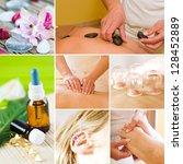 wellness collage   Shutterstock . vector #128452889