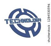 technology logo template.   Shutterstock .eps vector #1284530596