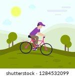 cycle flat design | Shutterstock .eps vector #1284532099