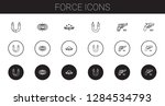 force icons set. collection of... | Shutterstock .eps vector #1284534793