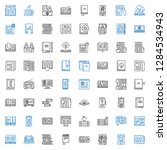 publication icons set.... | Shutterstock .eps vector #1284534943