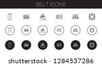belt icons set. collection of... | Shutterstock .eps vector #1284537286