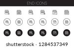 end icons set. collection of...