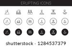 erupting icons set. collection... | Shutterstock .eps vector #1284537379