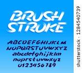 brush stroke alphabet typeface. ... | Shutterstock .eps vector #1284540739