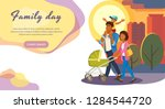 family day out cartoon vector... | Shutterstock .eps vector #1284544720
