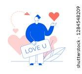 valentines day romantic man... | Shutterstock .eps vector #1284548209