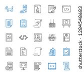 form icons set. collection of... | Shutterstock .eps vector #1284548683