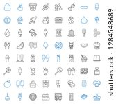 tasty icons set. collection of... | Shutterstock .eps vector #1284548689
